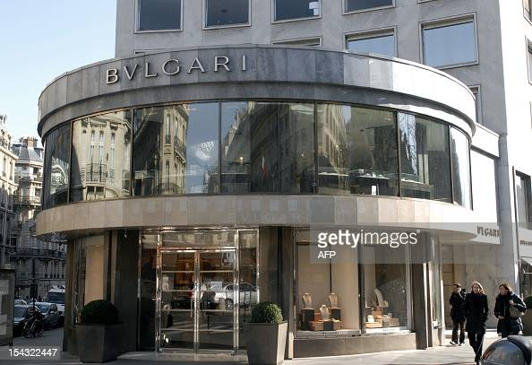 A picture taken on March 7 2011 in Paris shows a store of the Italian toend jeweller Bulgari LVMH the world's leading luxury retailer said that day...