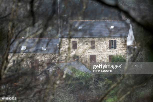 A picture taken on March 7 2017 in PontdeBuis western France shows a view of the house of Lydie Troadec sister of Pascal Troadec who went missing...
