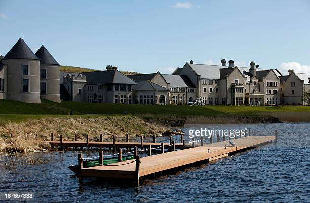 A picture taken on May 1 2013 shows a general view of Lough Erne golf resort near Enniskillen County Fermanagh Northern Ireland the venue for the...