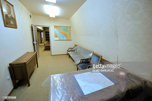 A picture taken on May 11 2011 shows the room of former Yugoslavia's iconic communist leader Josip Broz Tito in a nuclear shelter in the bunker in...