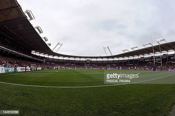 A picture taken on May 12 2012 shows a general view of the Stadium Municipal in Toulouse southern France during the French Top 14 rugby union match...