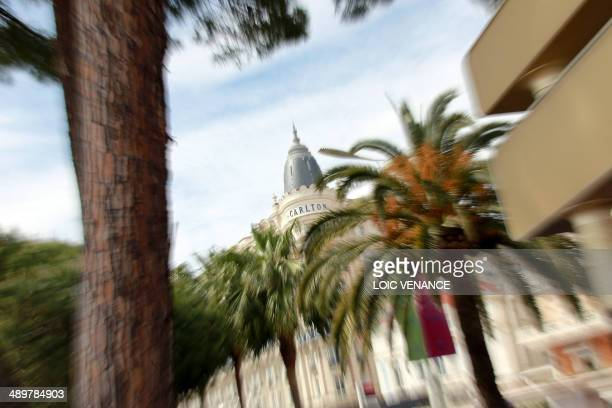 A picture taken on May 12 in Cannes southeastern France shows the Carlton Hotel two days ahead of the 67th edition of the Cannes Film Festival...