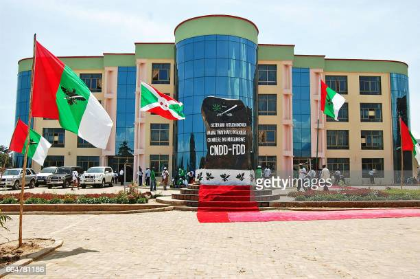 A picture taken on May 14 2011 shows the national headquarters of the party National Council for the Defense of DemocracyForces for the Defense of...