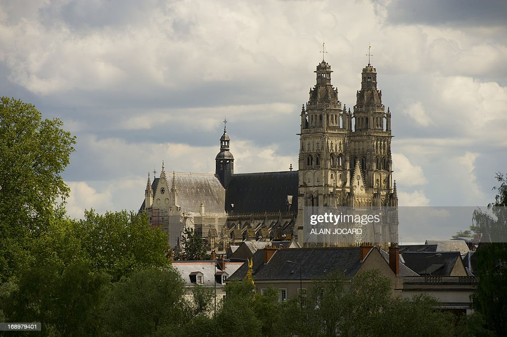 A picture taken on May 17, 2013 shows Tours' cathedral. Tours is one of the stages of the 2013 Tour de France cycling race. Running from June 29th to July 21st 2013, the 100th Tour de France will be made up of 21 stages and will cover a total distance of 3,479 kilometres.