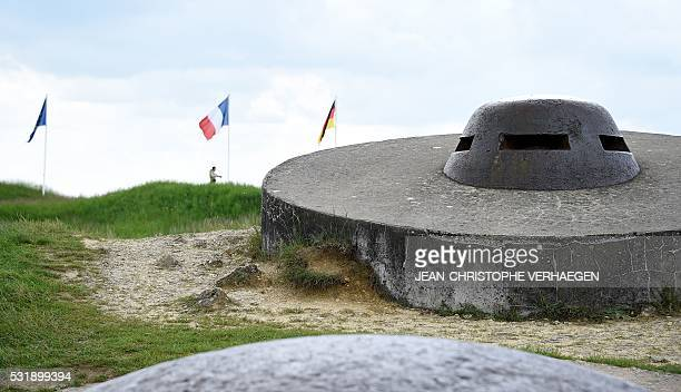 A picture taken on May 17 2016 shows a turret of the fort of Douaumont on the battlefield of Verdun in Douaumont eastern France VERHAEGEN