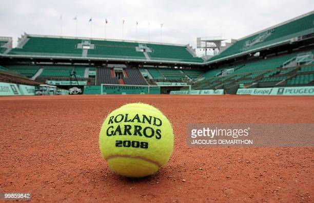 Picture taken on May 19 2008 on the Philippe Chatrier court at Roland Garros in Paris of the French Open 2008 official ball The event second 'Grand...