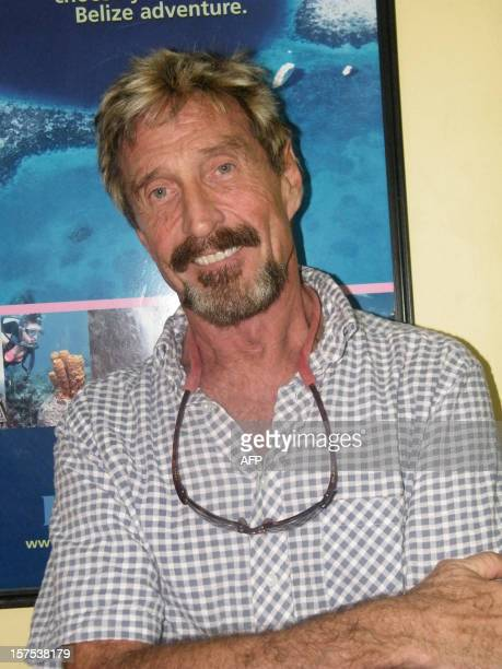 Picture taken on May 2012 in Belize of US John McAfee American antivirus software pioneer John McAfee wanted for questioning over the murder of his...