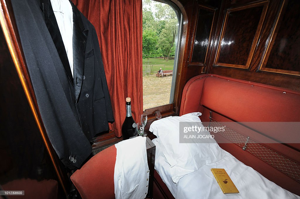 Picture taken on May 27 2010 at La FerteSaintAubin central France in a sleepingcar built in 1949 which was once part of the famous OrientExpress...