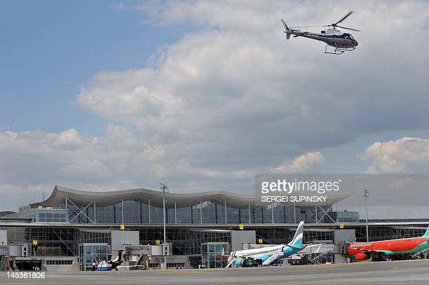 A picture taken on May 28 2012 shows the Terminal D of the Boryspil International airport in Kiev on May 28 2012 Urkaine cohost of the EURO 2012...