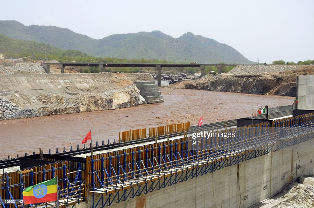 A picture taken on May 28 2013 shows the Blue Nile in Guba Ethiopia during its diversion ceremony Ethiopia has begun diverting the Blue Nile as part...