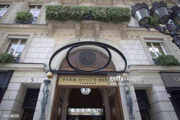 A picture taken on May 5 2011 shows the entrance of luxury hotel Park Hyatt ParisVendome which became today one of the eight deluxe French hotels...