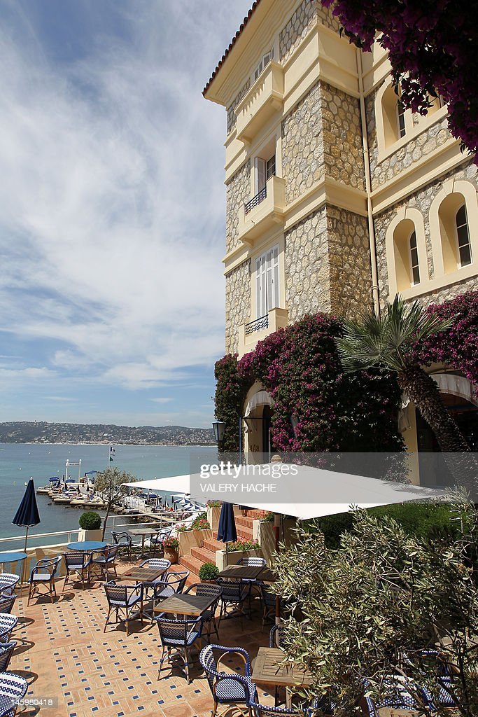 A picture taken on May 5, 2012 shows the hotel Belles Rives' terrace in Juan-les-Pins, located in Antibes, French Riviera. The Belles Rives 4-star hotel was immortalized by US writer F. Scott Fitzgerald.