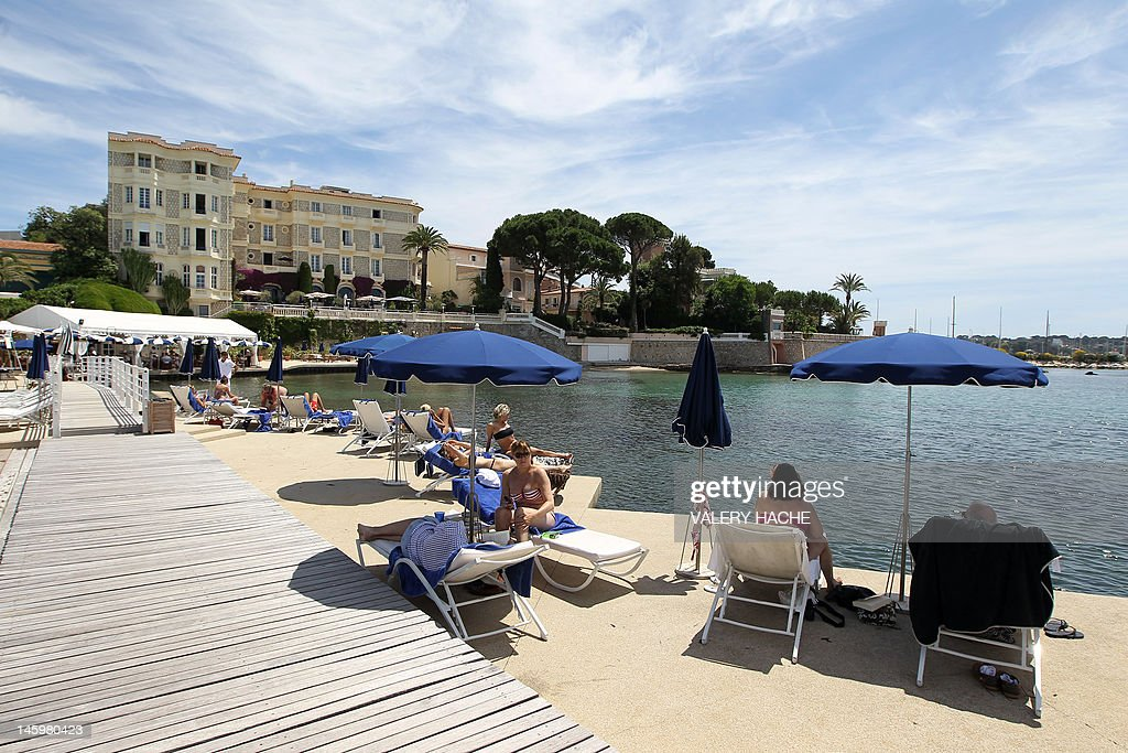 A picture taken on May 5 2012 shows the pier of hotel Belles Rives in JuanlesPins located in Antibes French Riviera The Belles Rives 4star hotel was...