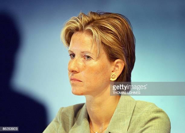 FILES A picture taken on May 6 2003 in Frankfurt/M western Germany shows Susanne Klatten major shareholder in German luxury carmaker BMW and...