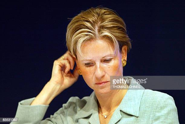 FILES Picture taken on May 6 2003 shows Susanne Klatten attending the annual general meeting of the Altana AG chemical company in the central German...