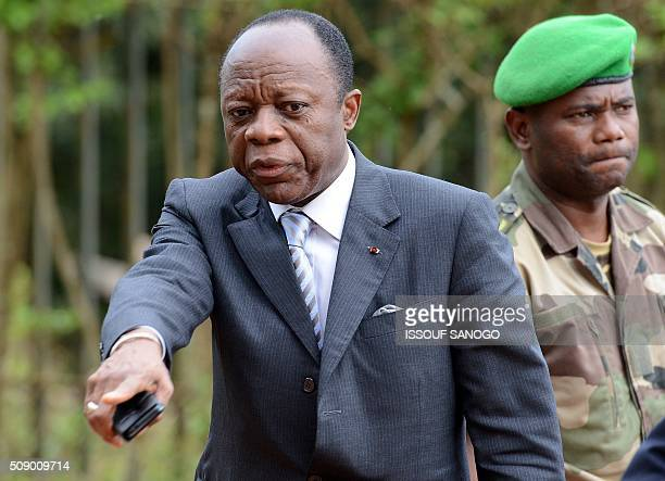A picture taken on May 7 2014 shows the former chief of the Africanled International Support Mission to the Central African Republic Congolese...