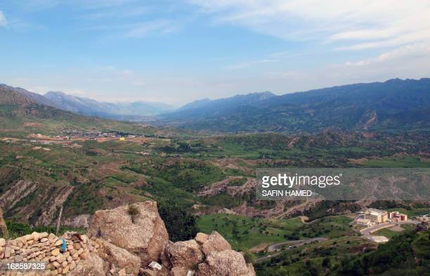 ZEBARI A picture taken on May 9 2013 in the northern Iraqi city of Dohuk shows the valley along the IraqiTurkish border Iraqi Kurds living near the...