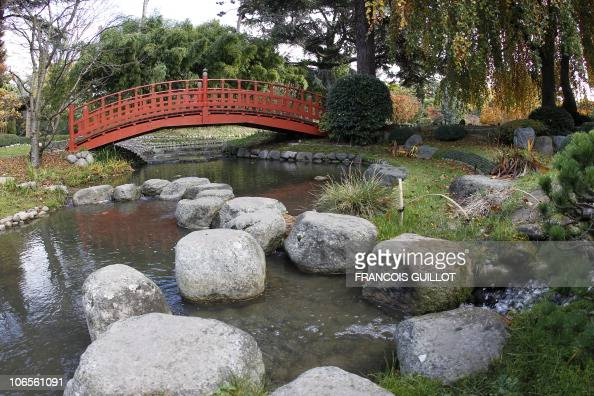 A picture taken on November 05 2010 in BoulogneBillancourt outside Paris shows the Japanese Garden of the Albert Kahn museum AFP PHOTO FRANCOIS...