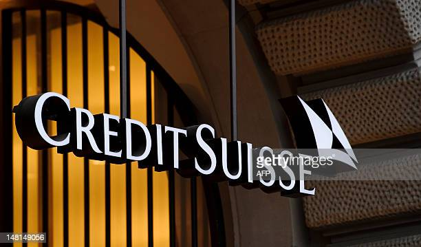 Picture taken on November 1 2011shows the logo of the Swiss banking giant Credit Suisse in Zurich The bank on July 11 2012 that German fiscal...