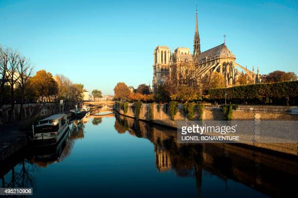 A picture taken on November 1 2015 in Paris shows Notre Dame de Paris cathedral AFP PHOTO / LIONEL BONAVENTURE