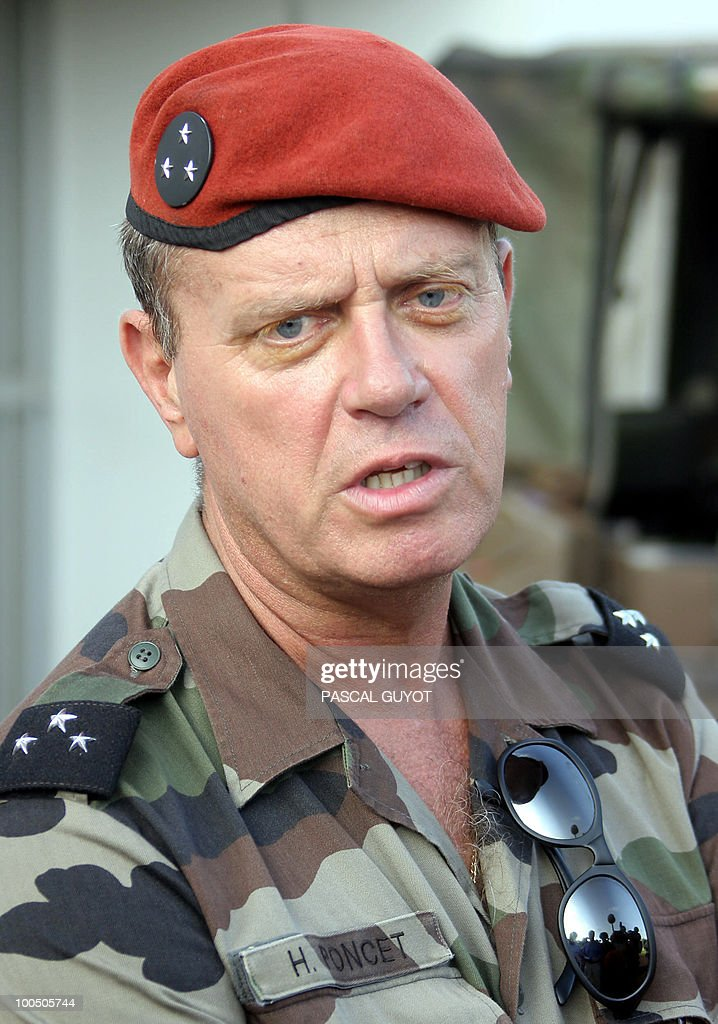 - Picture taken on November 11, 2004 in Abidjan shows former French general who was in command of the 4,000-strong French peacekeeping mission in Ivory Coast, Henri Poncet during a press conference. A French army military court prosecutor has called for the dismissal of the charge against Poncet who is under investigation for complicity in the alleged murder by French soldiers, of Firmin Mahe, in the Ivory Coast, a French justice source said on May 25, 2010.