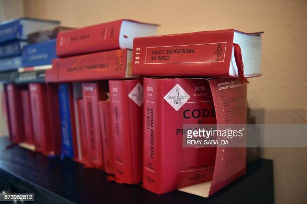 A picture taken on November 14 2017 in Toulouse southern France shows the French code of procedure / AFP PHOTO / REMY GABALDA