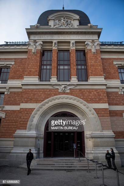 A picture taken on November 16 2017 in Paris shows the entrance of the French museum of Natural History The museum needs to raise funds for its...