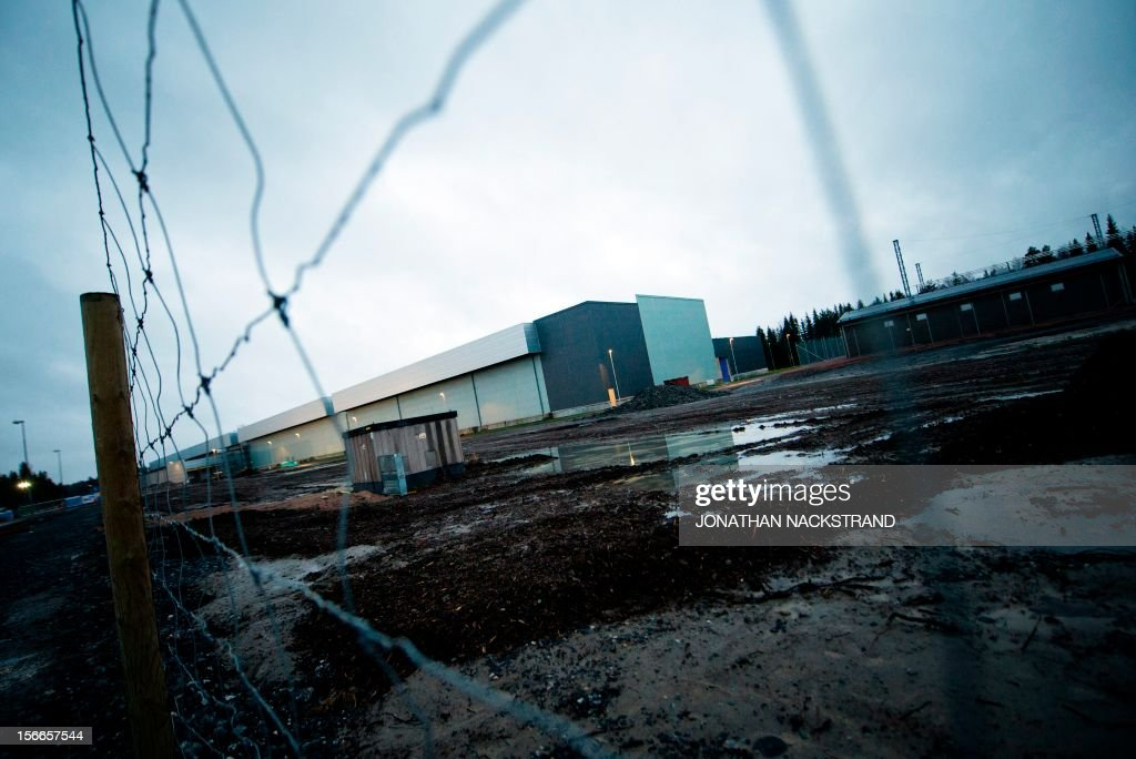Picture taken on November 18, 2012 shows the construction site of the new Facebook Data Center and firm's first outside the US in the city of Lulea, in Swedish Lapland. The Lulea data center first server building is scheduled for completion by March 2013. AFP PHOTO/JONATHAN NACKSTRAND