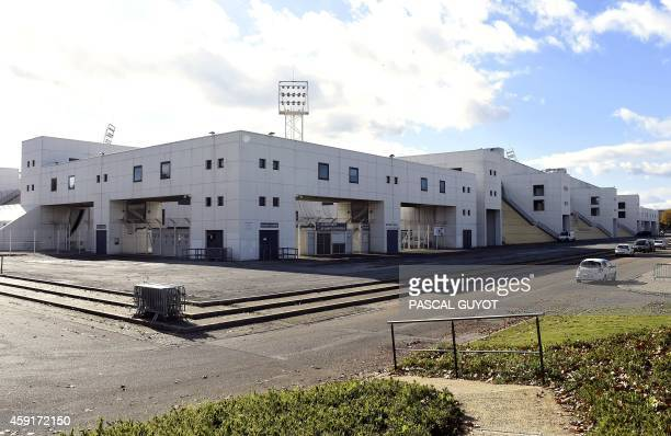 A picture taken on November 18 2014 shows the Costieres Stadium in Nimes southeastern France the home stadium of French L2 football club Nimes...