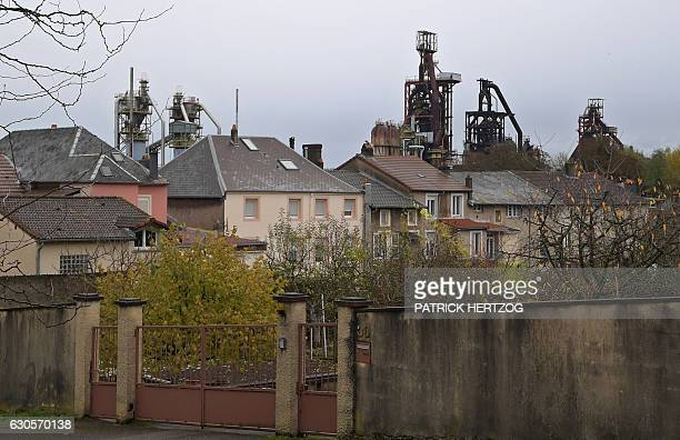 A picture taken on November 18 2016 shows the blast furnaces of the steel plant in Hayange eastern France / AFP / PATRICK HERTZOG