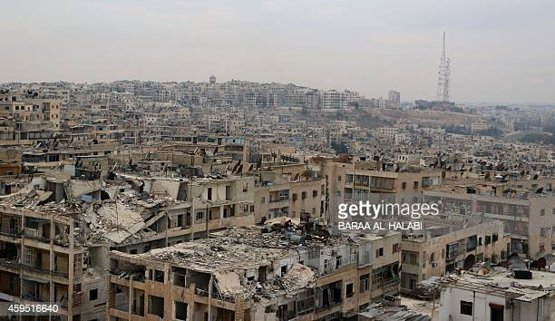 A picture taken on November 24 shows damaged buildings in the rebelheld Ansari disctrict of the northern Syrian city of Aleppo Syria's war began as a...