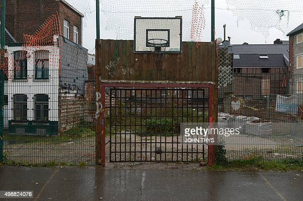 A picture taken on November 25 2015 shows an empty playgroung in Verviers The Belgian city of Verviers tries to deal with the radicalism while...