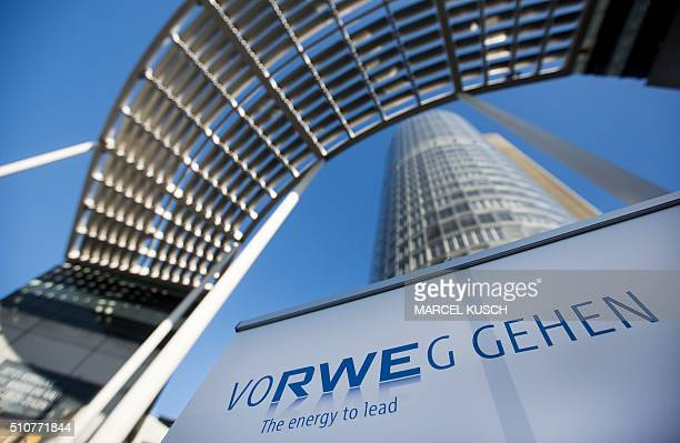 Picture taken on November 26 2015 shows the headquarters of Germany's secondbiggest power supplier RWE in Essen western Germany RWE said on February...