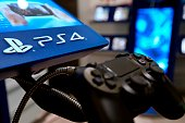 A picture taken on November 29 2013 in a Parisian store shows the joystick of the new Sony Playstation 4 video game console AFP PHOTO/JOEL SAGET