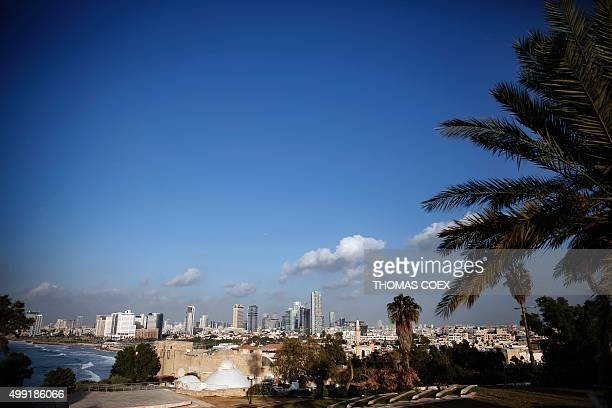 A picture taken on November 29 2015 shows the Tel Aviv skyline from the neighbourhood of Jaffa AFP PHOTO / THOMAS COEX / AFP / THOMAS COEX