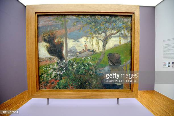 A picture taken on November 3 2011 shows the painting 'La Riviere blanche ' by the French Paul Gauguin at the Museum of Grenoble southeastern France...