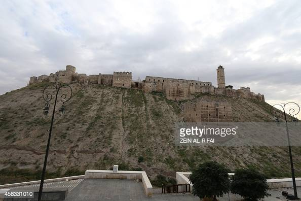 A picture taken on November 3 2014 shows a view of the UNESCOlisted citadel in the northern Syrian city of Aleppo The 5000yearold citadel which...