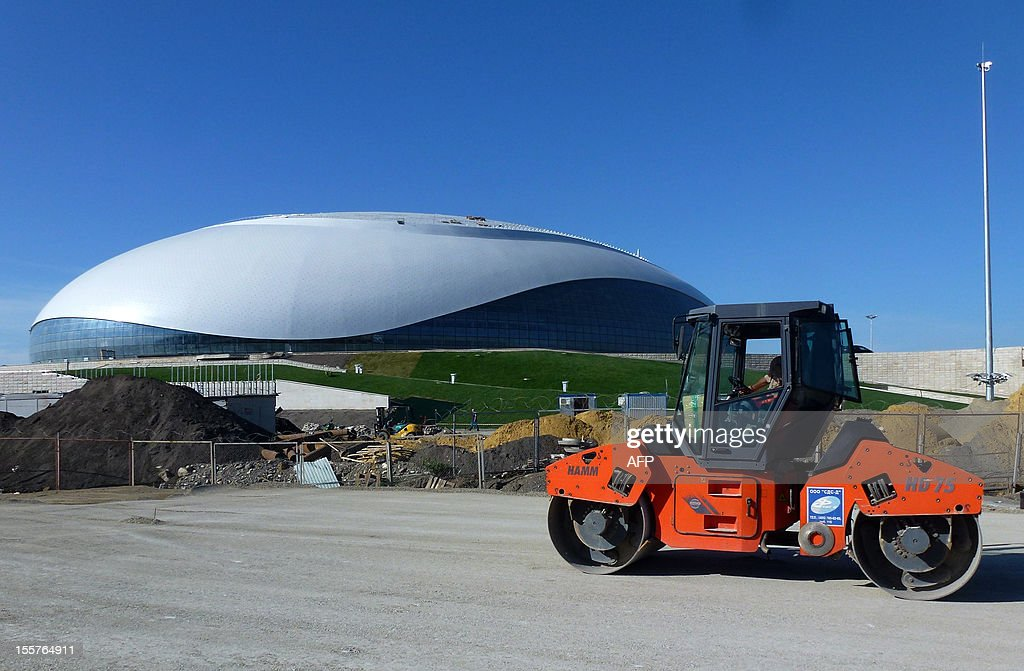 A picture taken on November 6, 2012 shows the newly constructed Bolshoi ice dome in Sochi which will be home to the ice hockey tournament at the 2014 winter olympics. The Bolshoi ice dome is part of the coastal cluster of stadiums built to house the indoor disciplines. SLIM