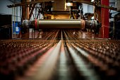 BOUILLON A picture taken on November 8 2012 shows a weaving loom at the Tassinari Chatel silk manufacture in Lyon Founded in 1865 Tassinari Chatel...