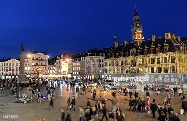 A picture taken on November 8 2014 shows the grand place of Lille AFP PHOTO/DENIS CHARLET