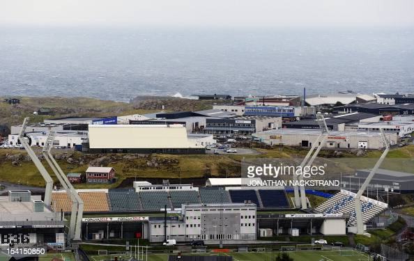 Picture taken on October 15 2012 shows a general view of Torsvollur stadium in Torshavn AFP PHOTO / JONATHAN NACKSTRAND