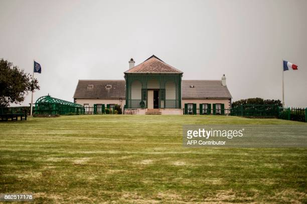 A picture taken on October 17 2017 shows a general view of Napoleon last residence during his exile in Longwood on the British Overseas Territory of...