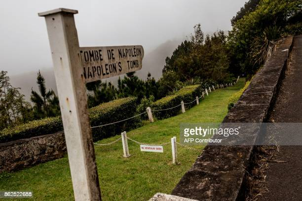 A picture taken on October 17 2017 shows a general view of the path to the gravesite of French Emperor Napoleon on the outskirts of Longwood on the...