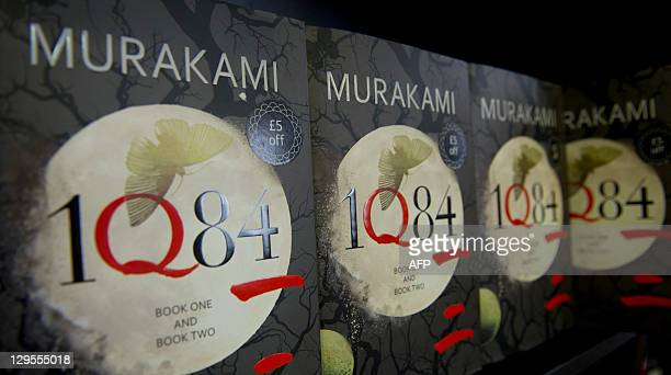 A picture taken on October 18 2011 shows books entitled '1Q84' in a bookshop in London Booksellers in Britain were expecting to sell thousands of...