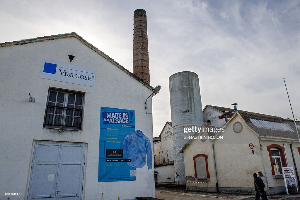 A picture taken on October 18, 2013 in Hirsingue shows the Virtuose factory, a textil manufacture. AFP PHOTO / SEBASTIEN BOZON
