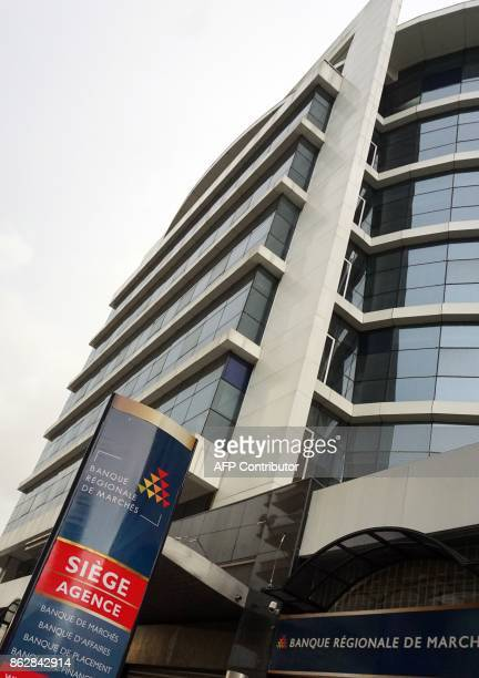 A picture taken on October 18 2017 shows the headquarter building of the Banque regionale de Marches specialized in investment banking and capital...