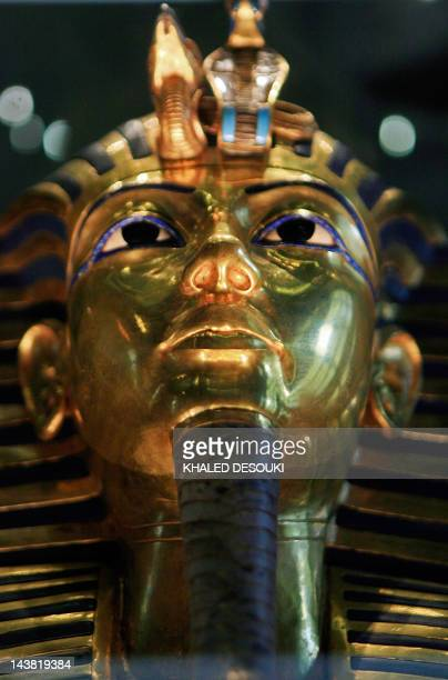 A picture taken on October 20 2009 shows King Tutankhamun's golden mask displayed at the Egyptian museum in Cairo AFP PHOTO/KHALED DESOUKI