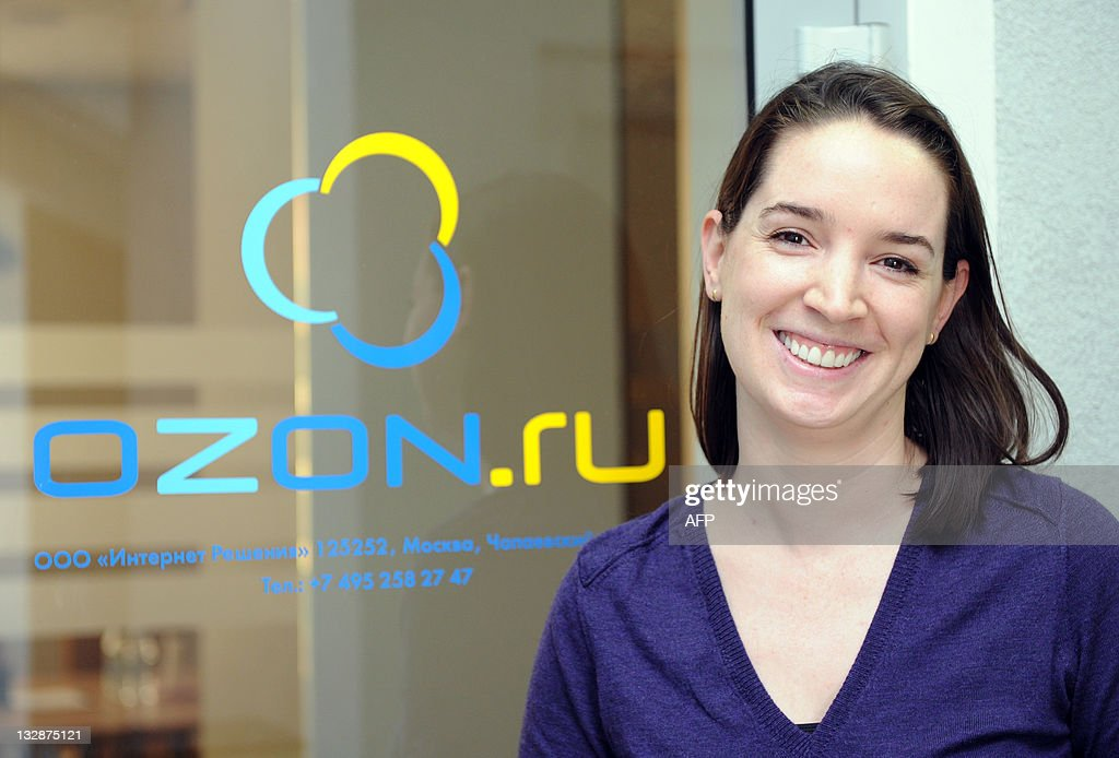A picture taken on October 20, 2011, shows the French-born CEO of Russia's leading online retailer Ozon, Maelle Gavet, during her interview with AFP in Moscow. Launched in 1998 Ozon proposes today nearly 1,5 million items online.