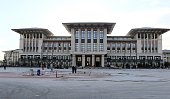 A picture taken on October 22 2014 shows the new presidential palace in Ankara prior to its inauguration by Turkish president on October 29 2014 The...