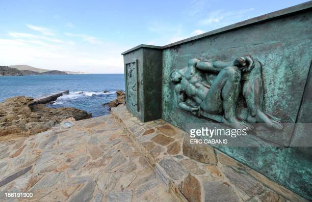 A picture taken on October 25 2013 shows a bronze sculpture by French sculptor Aristide Maillol made in 1933 at a propeace World War I memorial in...